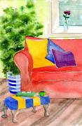Foot Stool Prints - Empty Chair Series 4 Print by Melody Allen