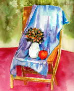 Green Paintings - Empty Chair by Zara GDezfuli