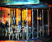 Fresco Photos - Empty Chairs And Empty Tables by Zeana Romanovna