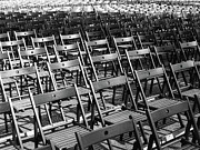 Austria Photo Posters - Empty Chairs Poster by Christoph Hetzmannseder