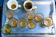 Coffee Mug Prints - Empty Coffee Glasses Print by Inti St. Clair