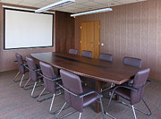 Workplace Framed Prints - Empty Conference Room Framed Print by Jaak Nilson