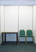 Empty Chairs Prints - Empty Exhibition Booth Print by Jon Boyes