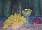 Grapes Glass Art - Empty Glass by Elizabeth A Gawronski
