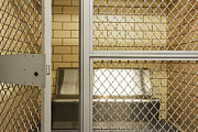 Freed Photo Prints - Empty Jail Holding Cell Print by Jeremy Woodhouse