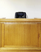 Legal System Framed Prints - Empty Judges Bench Framed Print by Skip Nall