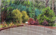Plein Air Pastels Prints - Empty Lot Print by Donald Maier