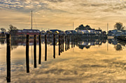 Mirroring Prints - Empty Marina Print by Gert Lavsen