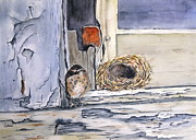Building Painting Originals - Empty Nest by Patricia Pushaw