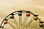 Ferris Wheel Posters - Empty Seats Poster by Bob Orsillo
