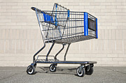 Shopping Cart Photos - Empty Shopping Cart by Paul Edmondson