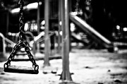 Monochrome Art - Empty Swing by Sheila Paras