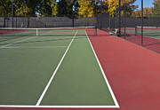 Tennis Court Framed Prints - Empty Tennis Court Framed Print by Thom Gourley/Flatbread Images, LLC