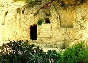 Images Paintings - Empty Tomb of Jesus by Lou Ann Bagnall