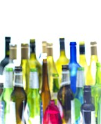 Problem Prints - Empty Wine And Beer Bottles Print by Tek Image