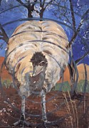 Emu Paintings - Emu by Lawry Love