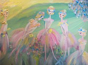 Ballet Dancers Paintings - En plein air Ballet by Judith Desrosiers