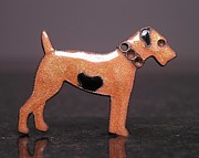 Prairie Dog Jewelry - Enamels 48f by Dwight Goss