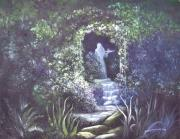 Arbor Paintings - enchanced Temptation Coming by Penny Neimiller