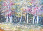 Violet Art Pastels Prints - Enchanced Tree Pageant Print by Penny Neimiller