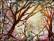 Enchanted Forest Paintings - Enchanted Forest by Elaine Hodges