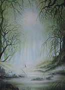 Jan Farthing Art - Enchanted forest by Jan Farthing