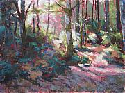 Hiking Pastels Posters - Enchanted Forest Poster by Mary McInnis