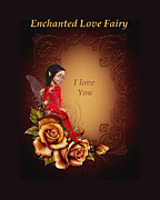 Fairy Art For Sale Framed Prints - Enchanted Love Fairy Framed Print by John Junek