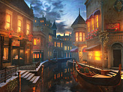 Romantic Night Prints - Enchanted Waters Print by Joel Payne