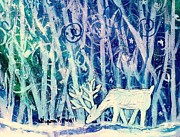 Spell Paintings - Enchanted Winter Forest by Shana Rowe