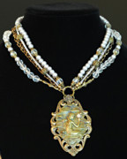 Vintage Jewelry - Enchanting Lady Choker Necklace by Renee Sumner