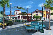 57 Chevy Painting Framed Prints - Encinitas Dreaming Framed Print by Lisa Reinhardt
