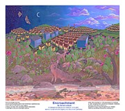 Reptiles Painting Originals - Encroachment -Poster by Katherine Young-Beck