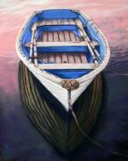 Rowboat Pastels - End of a Day Well Spent by Janice Lawrence
