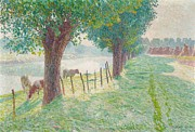 Belgium Paintings - End of August by Emile Claus