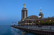 Sky Line Art - End of Navy Pier by Twenty Two North Gallery