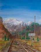 Storm Prints Painting Prints - End of standard Gauge Print by Christopher