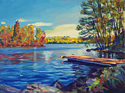 Lakeshore Paintings - End of Summer by David Lloyd Glover