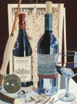 Red Wine Painting Prints - End of the Day  Print by Christopher Mize