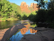  Cathedral Rock Prints - End of the Day Print by Sandy Tracey
