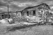 Rural Living Metal Prints - End of the Dream Monochrome Metal Print by Bob Christopher