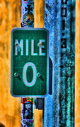 Road Signs Prints - End of the Line Print by Joetta West