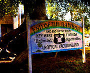 Landmarks Usa - End Of The Rainbow in Key West by Susanne Van Hulst