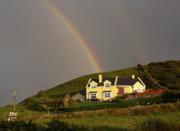 House Digital Art Prints - End of the Rainbow Print by Mike McGlothlen