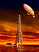 Airship Prints - End of the road Print by Bob Orsillo