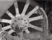 Wheel Drawings - End of the Road by Denny Adams