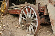 Wagon Wheels Photos - End Of The Trail . 7D10286 by Wingsdomain Art and Photography