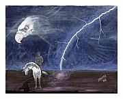Lightning Painting Prints - End of the Trail Print by Derek Snapps Keenatch