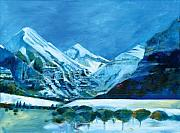 Snowy Painting Originals - End of the Valley by Ron Patterson