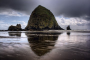 Oregon Beach Photos - Ending Storm by Brad Granger